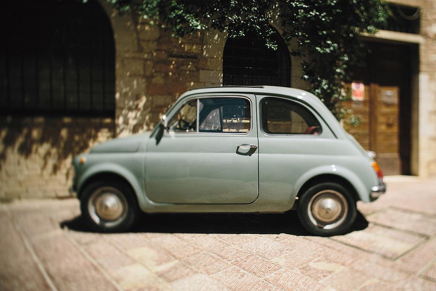 Fine Art Photograph - Old Fiat by Clint Brewer