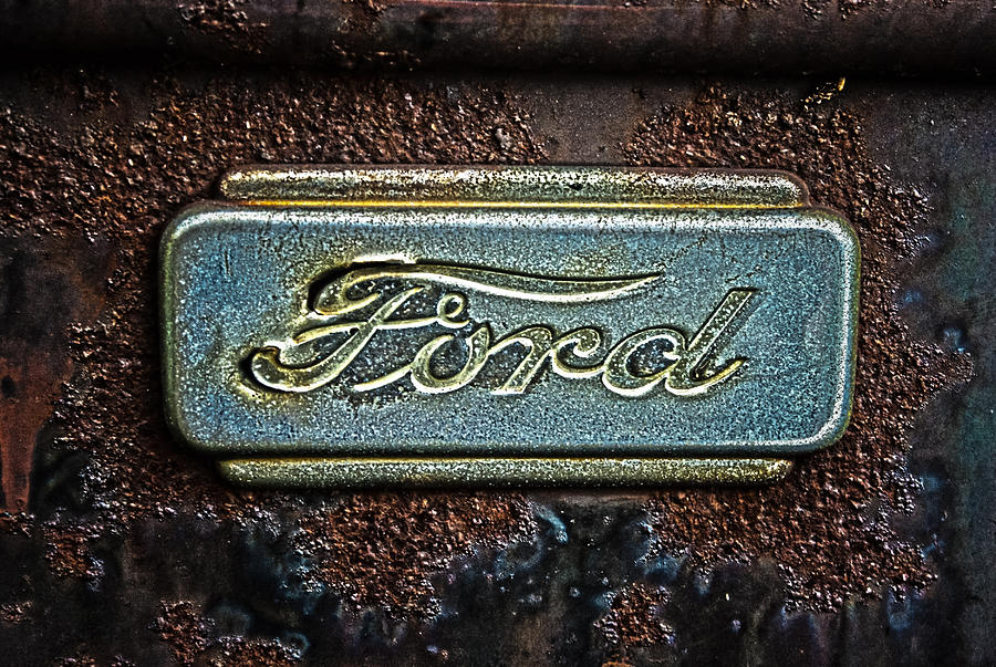 Old Ford Logos Old Ford Truck Logo Photograph