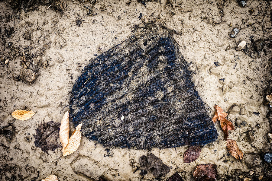 Old Forgotten Wool Cap Lying On The Ground Photograph  - Old Forgotten Wool Cap Lying On The Ground Fine Art Print