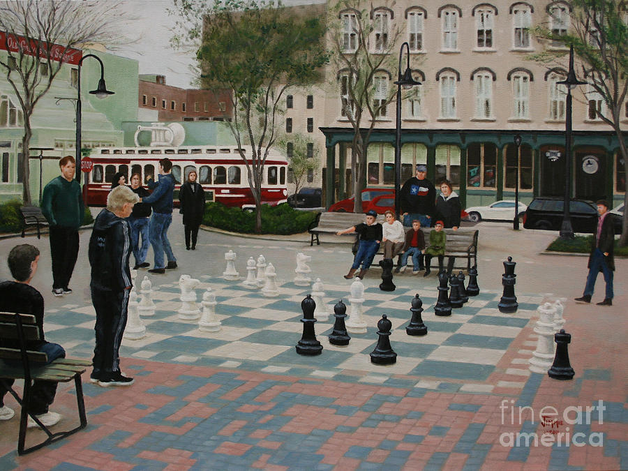 Old Galveston Square Painting