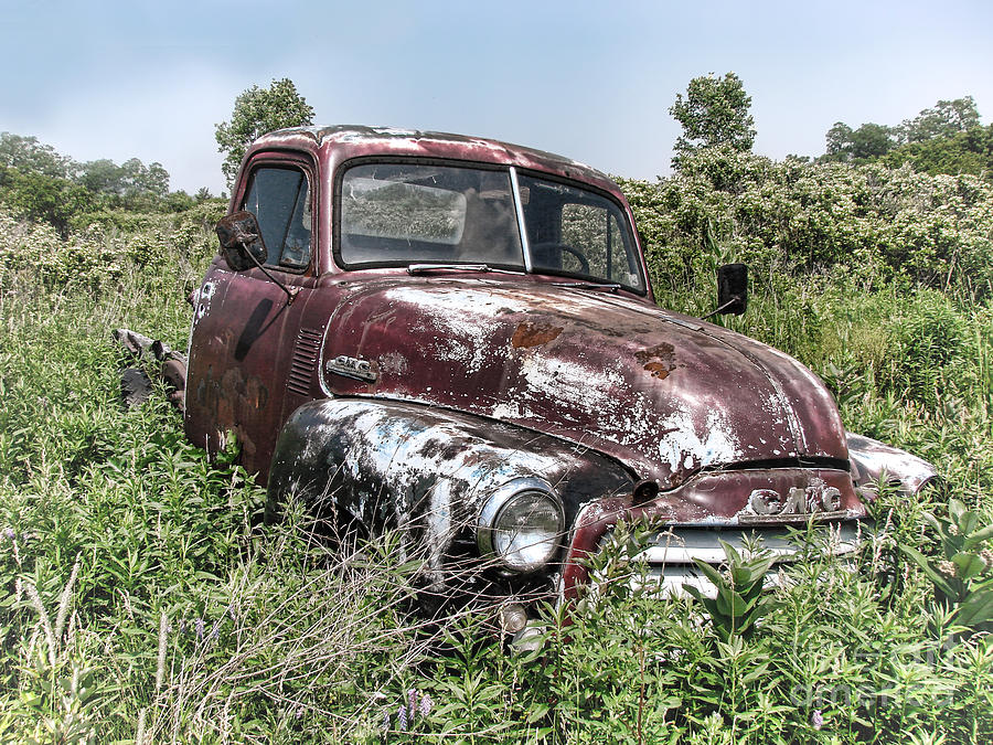 Gmc Photograph - Old Gmc Truck by Olivier Le Queinec