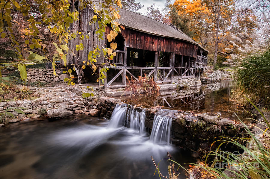 Kent Connecticut Photograph - Old Grist Mill - Macedonia Connecticut  by Thomas Schoeller