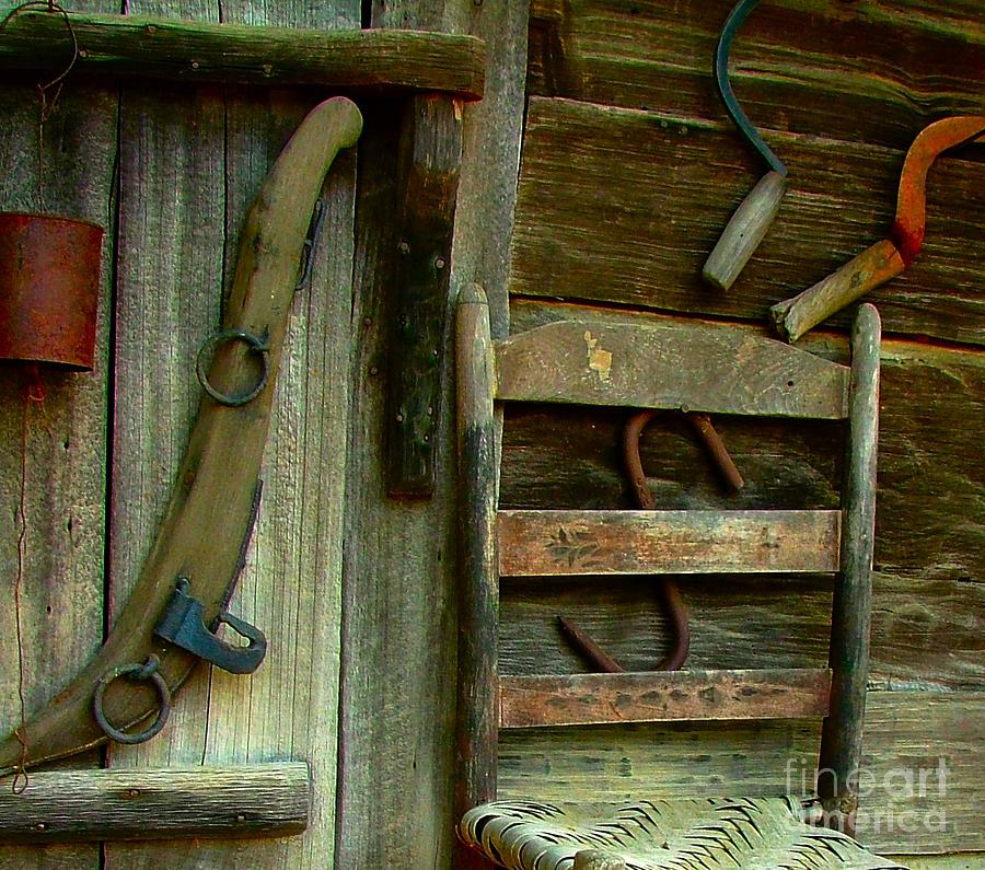 Old Hanging Ladderback Photograph  - Old Hanging Ladderback Fine Art Print