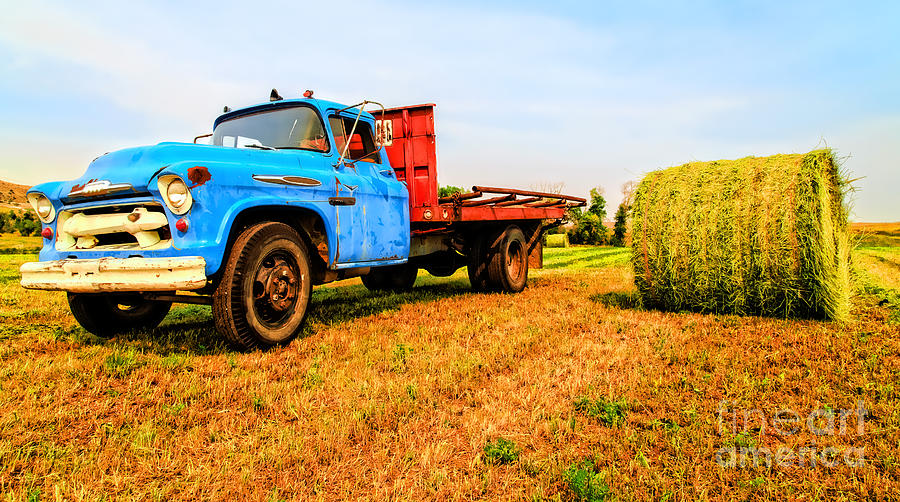 Old Hay Truck  Photograph