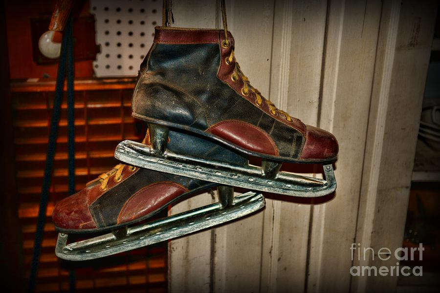 Old Hockey Skates Photograph