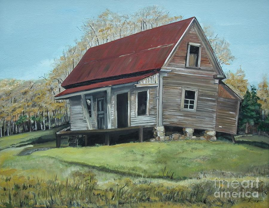 Old Homestead On Gates Chapel Rd Painting  - Old Homestead On Gates Chapel Rd Fine Art Print