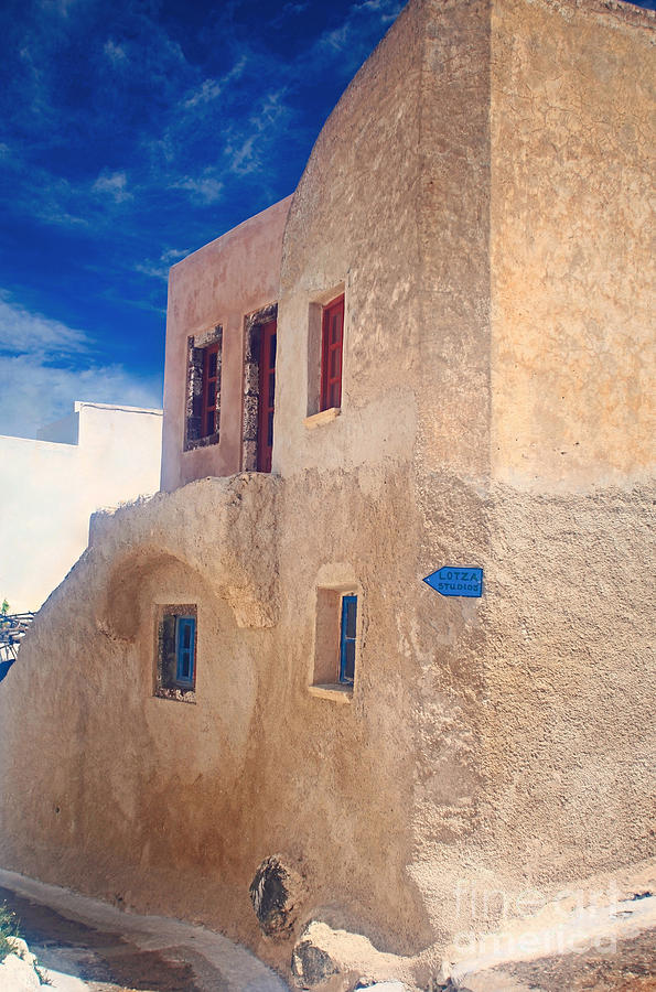 Old House In Oia  Photograph  - Old House In Oia  Fine Art Print