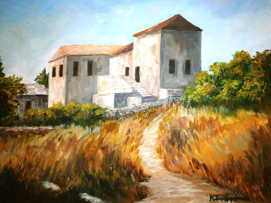 Old Houses Painting