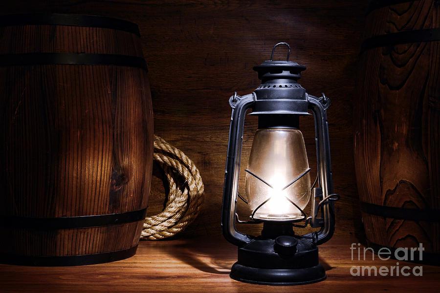 Old Kerosene Lantern Photograph