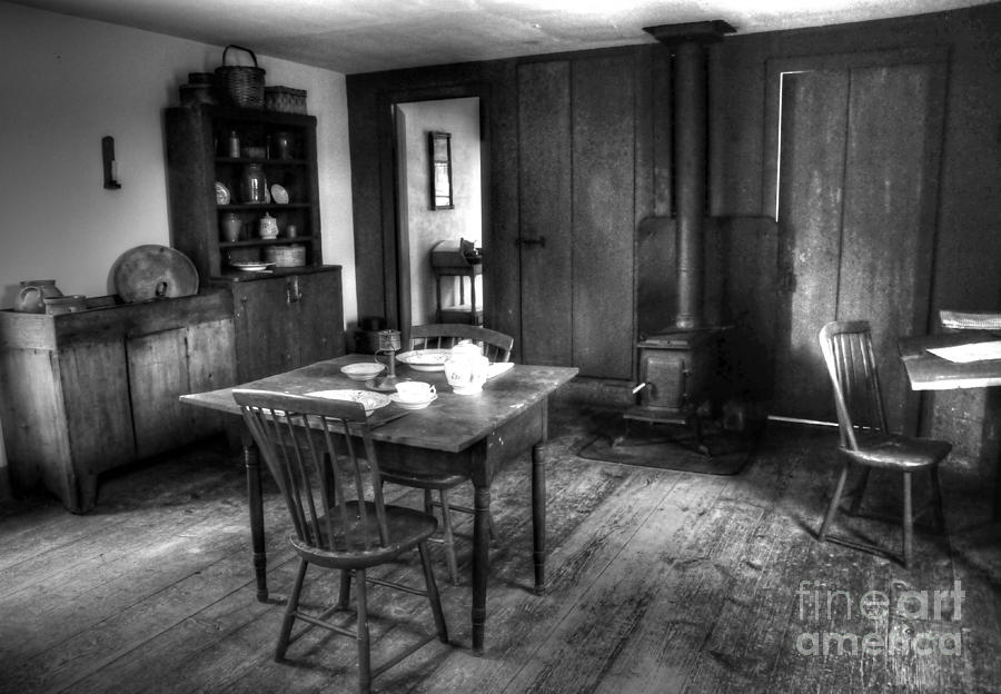 Old Photograph - Old Kitchen by Kathleen Struckle