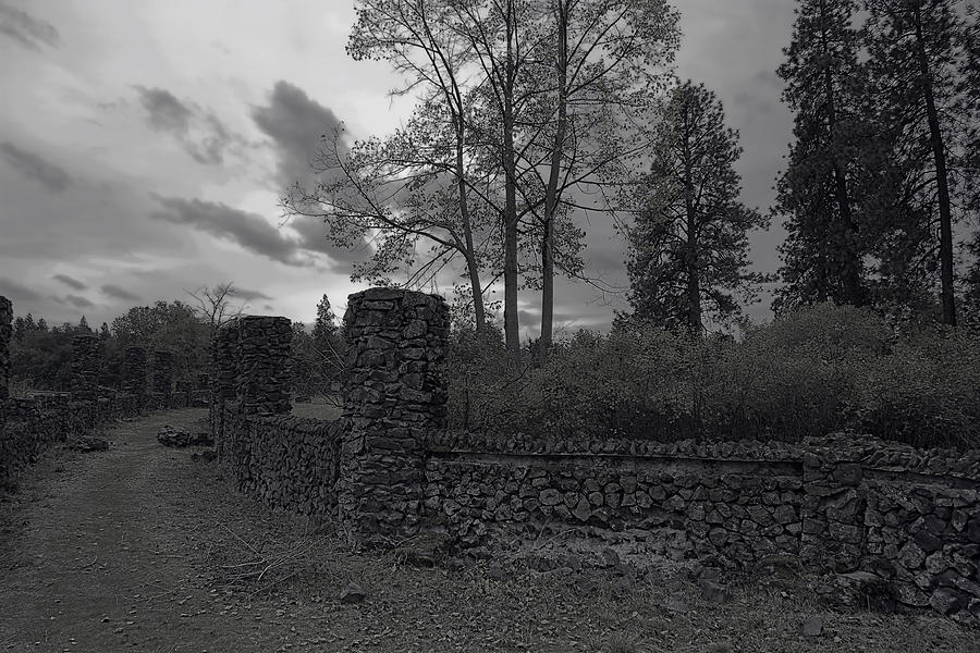 Old Liberty Park Ruins In Spokane Washington Photograph
