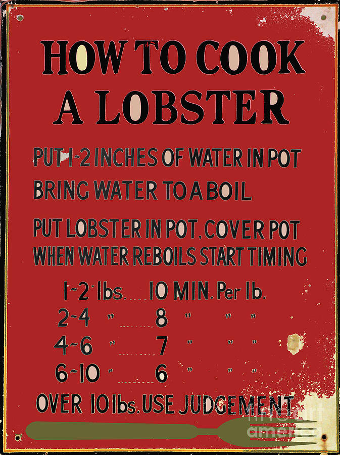 Old Lobster Recipe Sign Jewelry