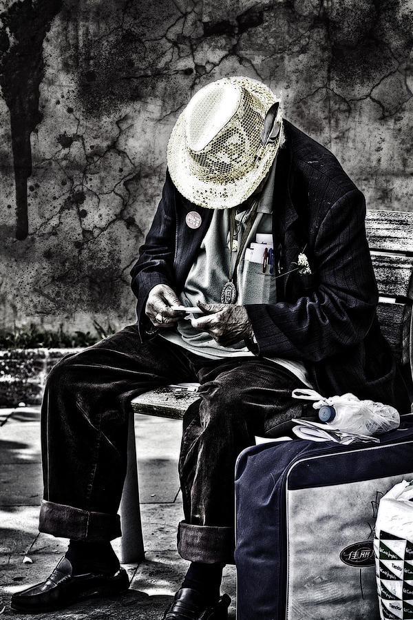 Old Man Photograph  - Old Man Fine Art Print