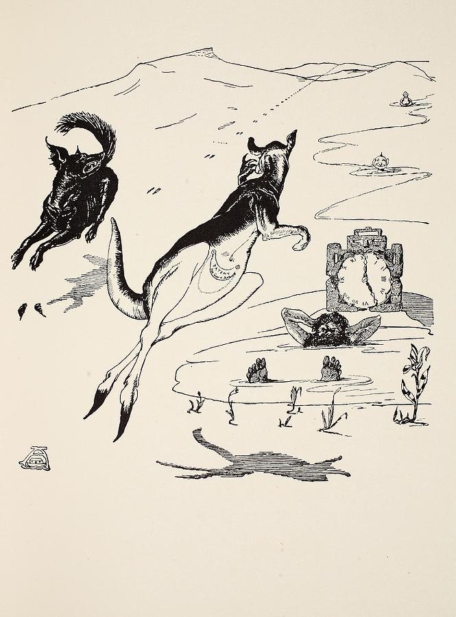 Old Man Kangaroo At Five Drawing