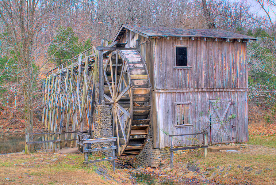 Old Mill Water Wheel And Sluce Photograph  - Old Mill Water Wheel And Sluce Fine Art Print