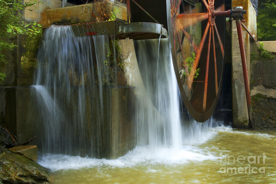 Old Mill Water Wheel Photograph