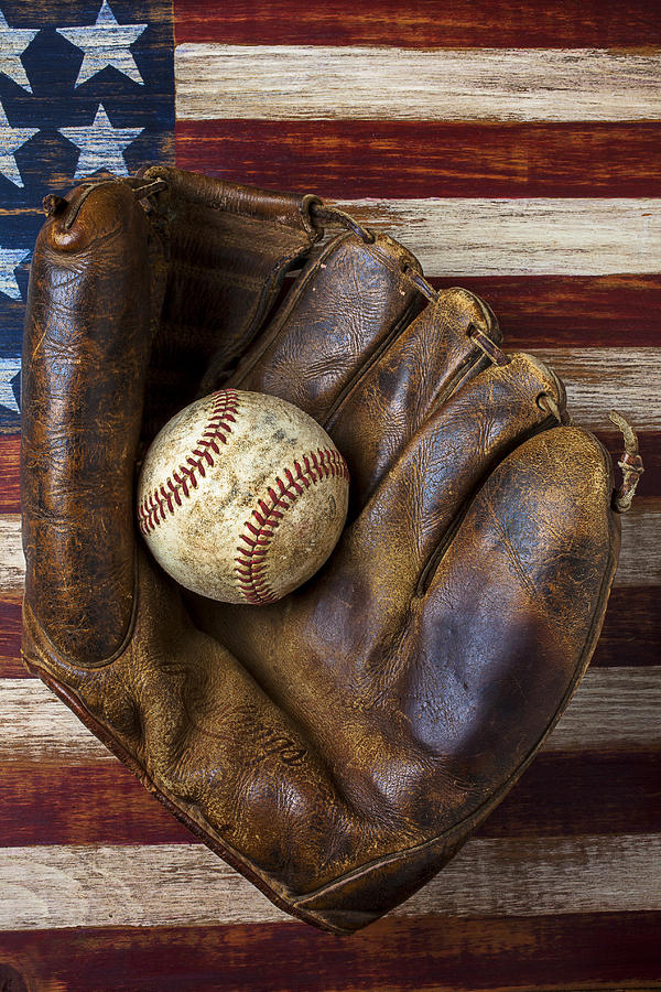 Old Mitt And Baseball Photograph