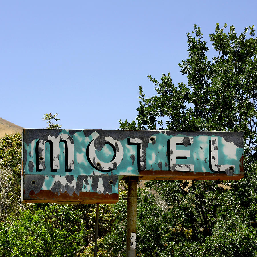 Old Motel Sign Photograph