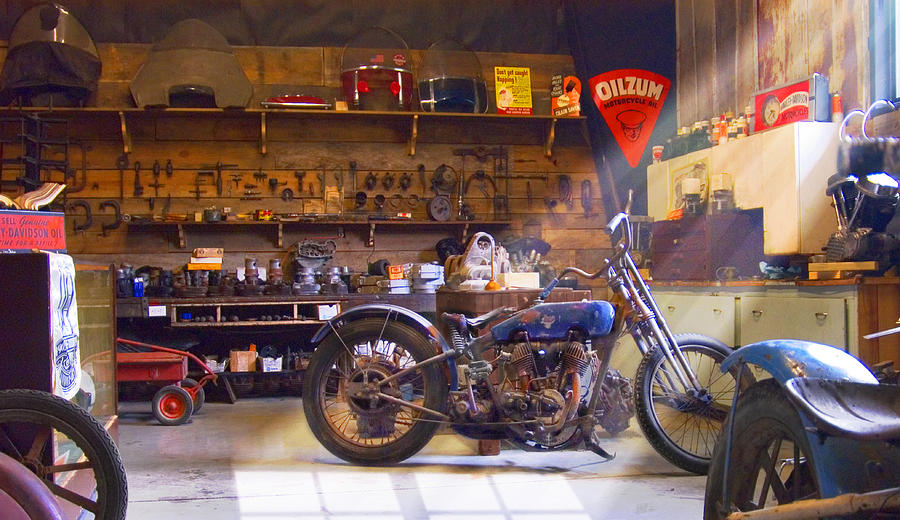 Old Motorcycle Shop 2 Photograph  - Old Motorcycle Shop 2 Fine Art Print