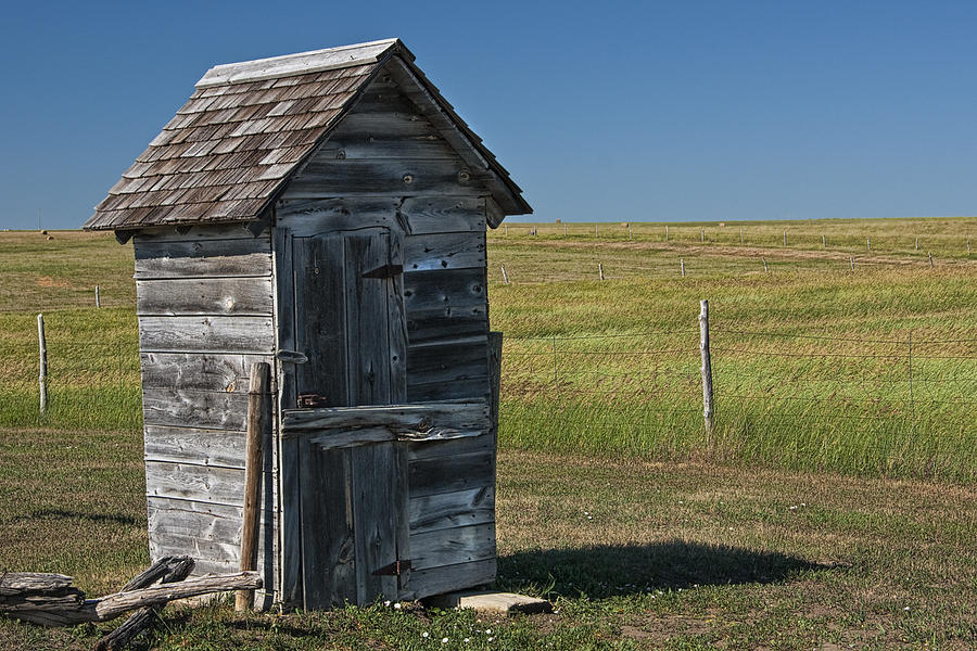 Old outhouse on the prairie photograph by randall nyhof for Outhouse pictures