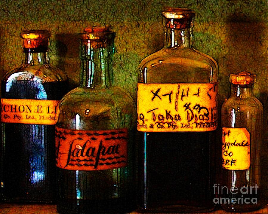 Old Pharmacy Bottles - 20130118 V1b Photograph