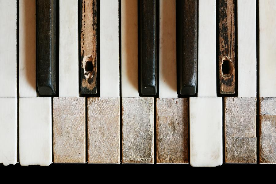 Old Piano Photograph