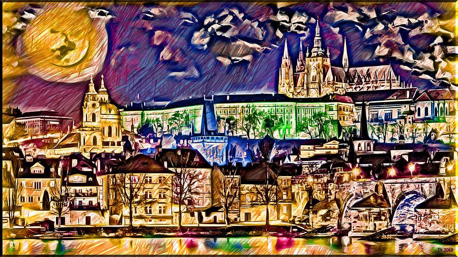 Old Prague Magic - Wallpaper Digital Art