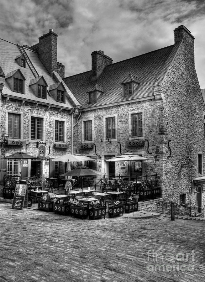Old Quebec City Bw Photograph