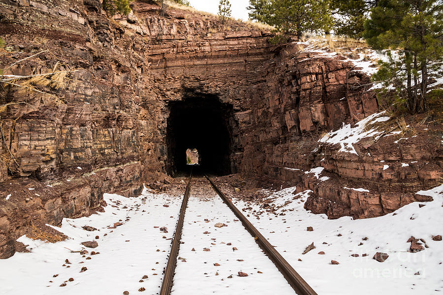 Old Railroad Tunnel Photograph
