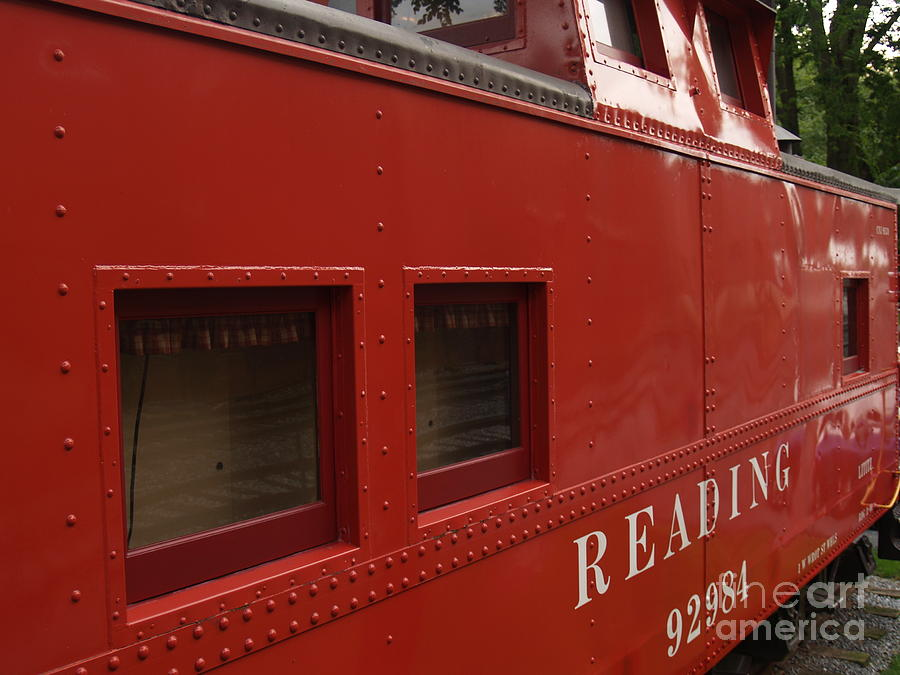 Old Reading Rr Caboose In Lititz Pa Photograph