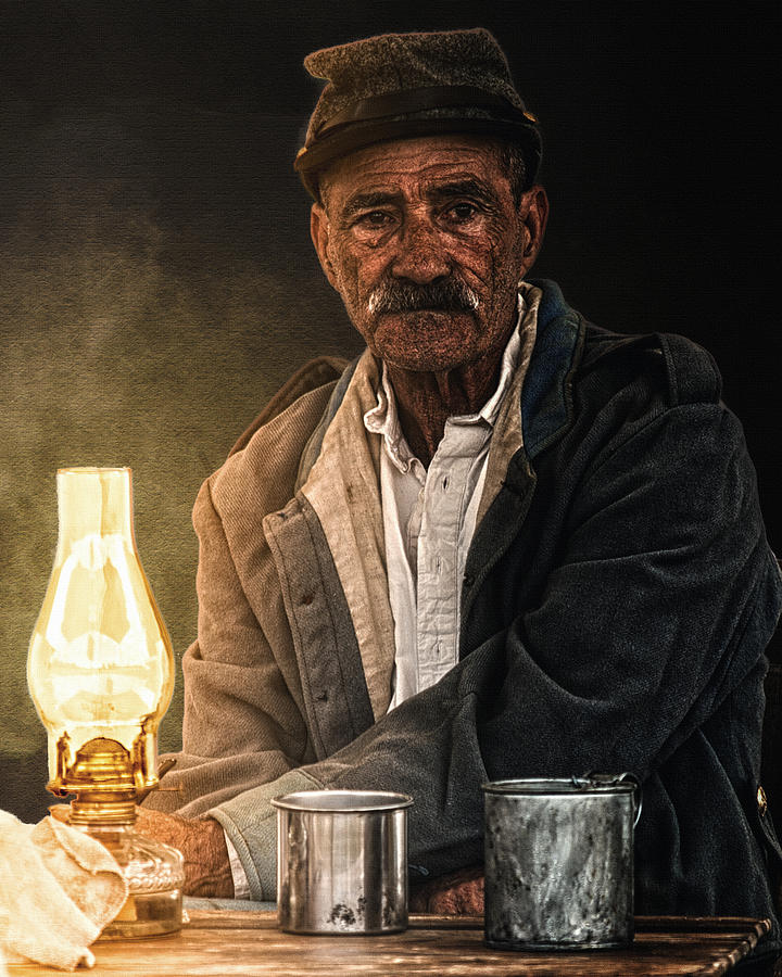 Portrait Photograph - Old Rebel by Ron  McGinnis