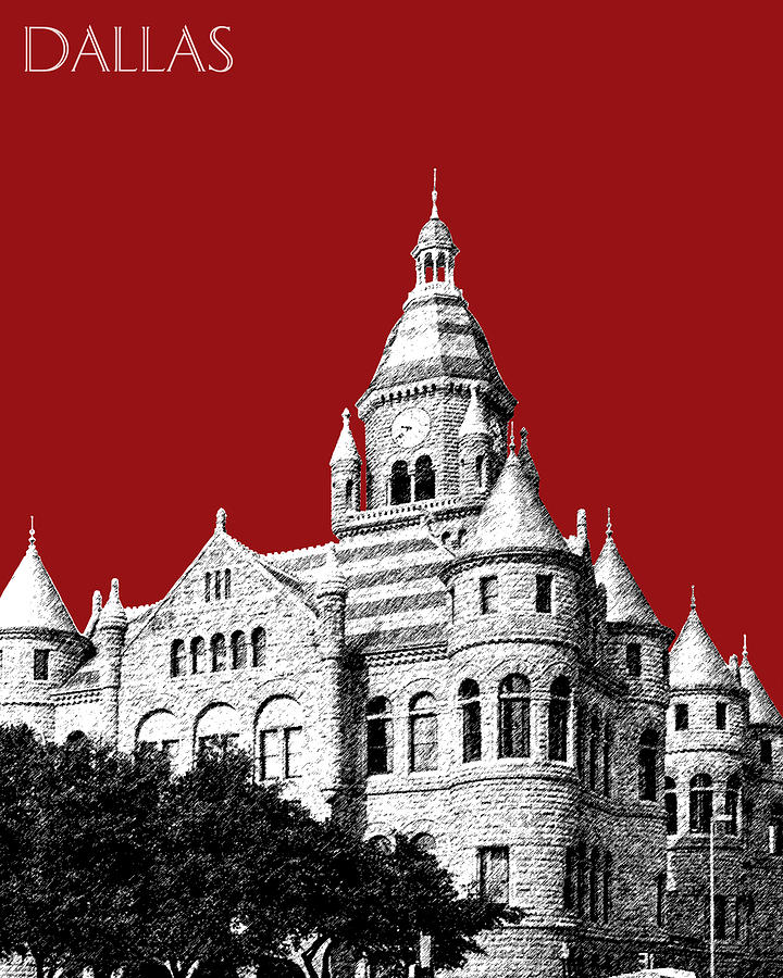 Old Red Courthouse Dallas Digital Art  - Old Red Courthouse Dallas Fine Art Print