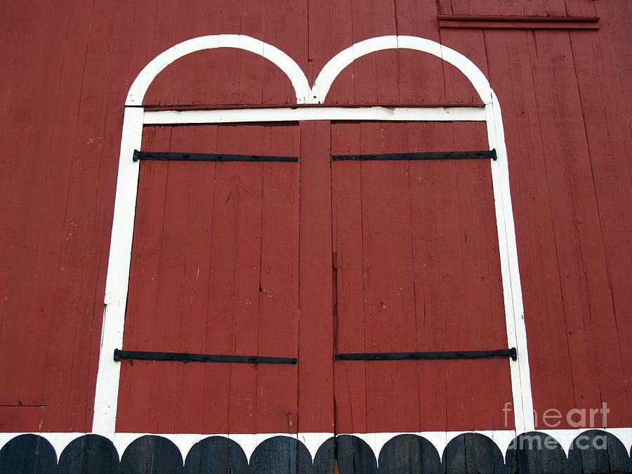 Old Red Kutztown Barn Doors Photograph