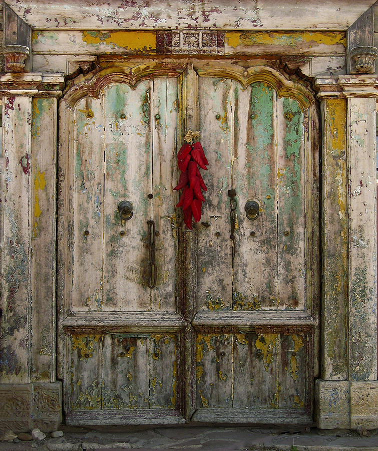 Old Ristra Door Photograph