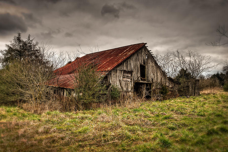old rustic barn photograph by brett engle