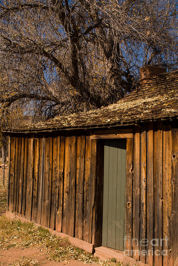 Old Rustic Cabin Grafton Ghost Town Rockville Utah Photograph