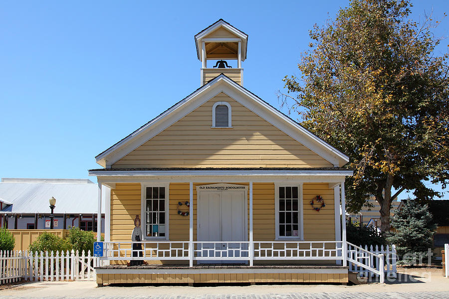 Old Sacramento California Schoolhouse 5d25544 Photograph  - Old Sacramento California Schoolhouse 5d25544 Fine Art Print