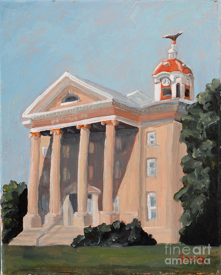 Old Salem Court House Painting By Todd Bandy