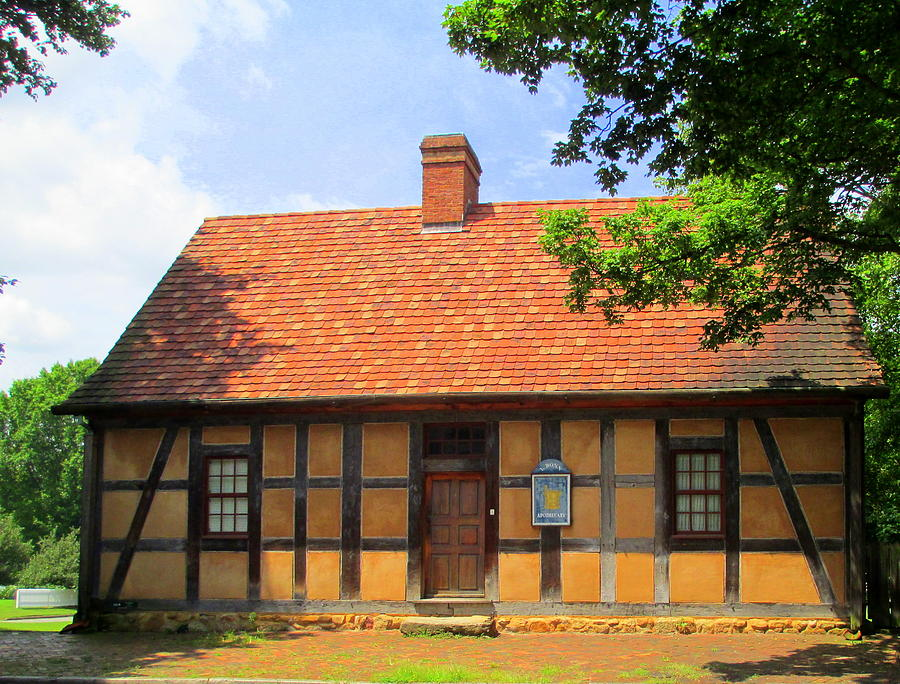 Old Salem House One Front Photograph By Randall Weidner