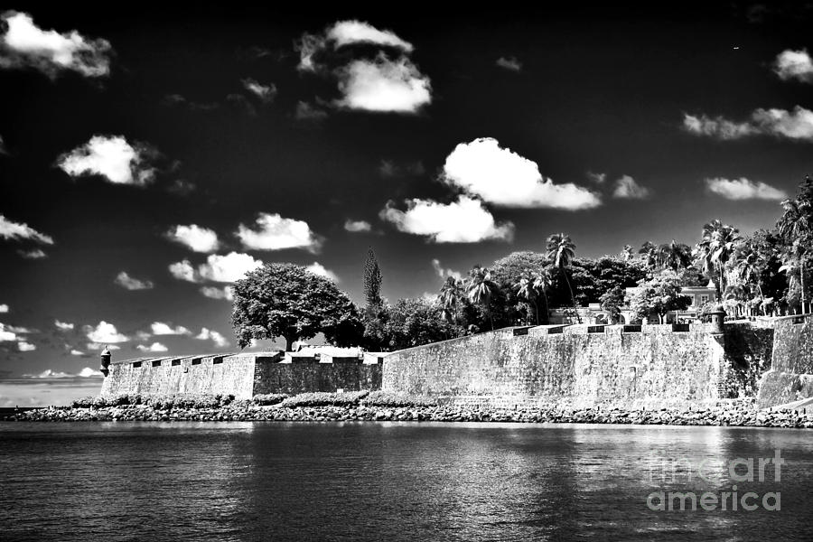Old San Juan In Black And White Photograph  - Old San Juan In Black And White Fine Art Print
