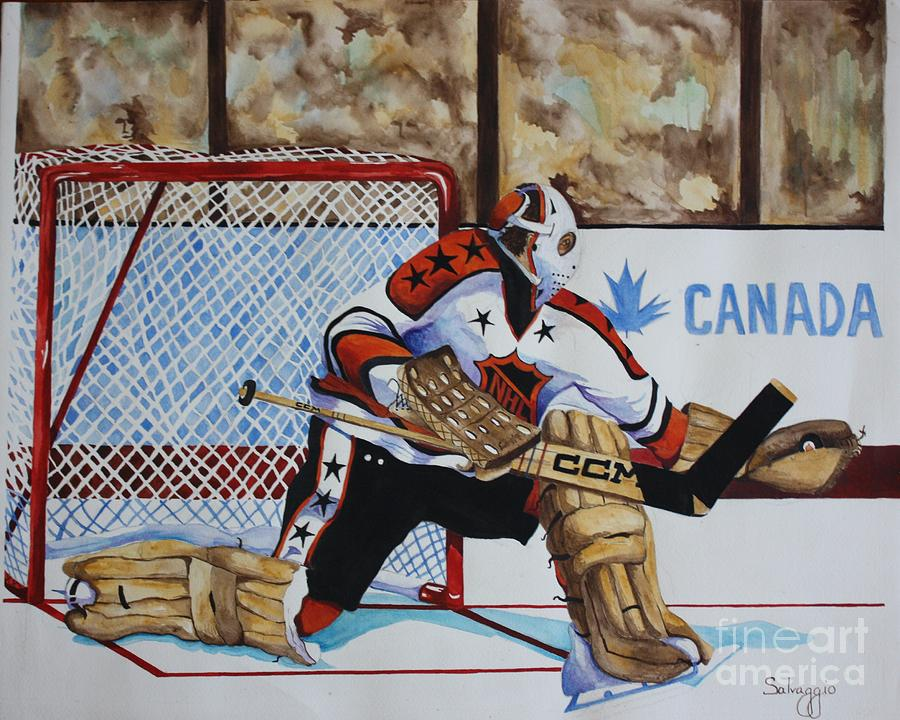Old School Goalie Painting  - Old School Goalie Fine Art Print