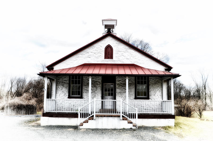 Old Photograph - Old Schoolhouse Chester Springs by Bill Cannon
