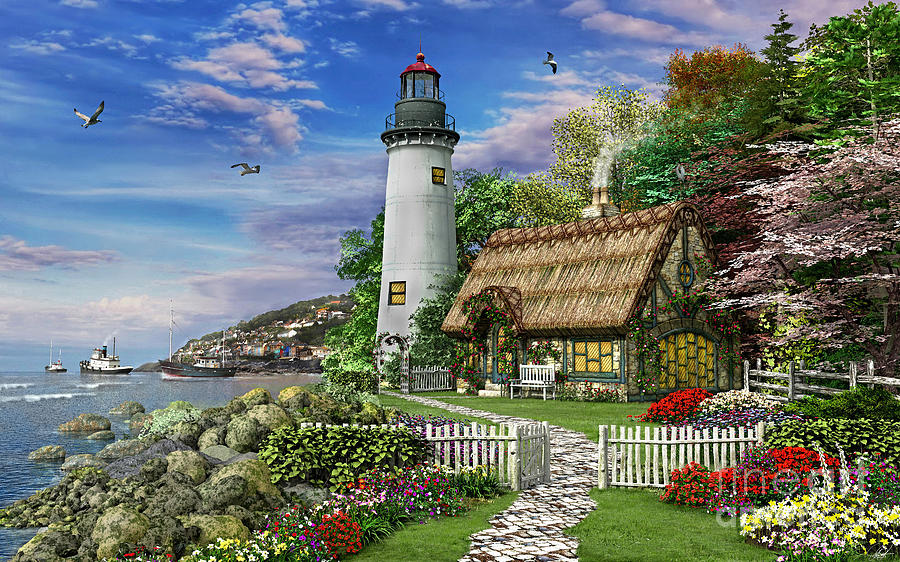 Old Sea Cottage is a piece of digital artwork by Dominic Davison which ...