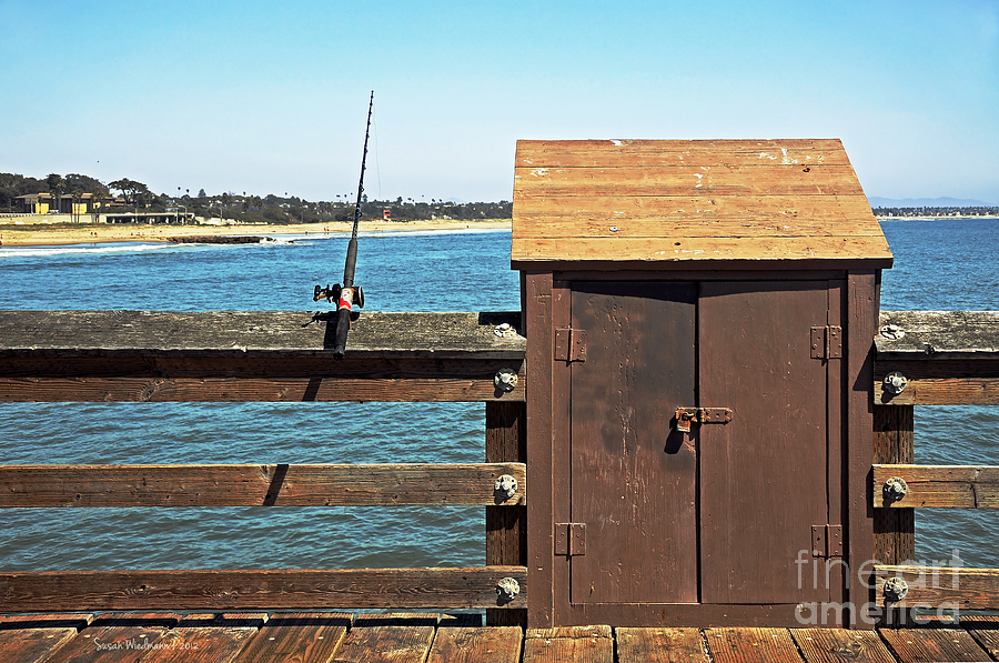 Old Shed On Ventura Pier Photograph  - Old Shed On Ventura Pier Fine Art Print