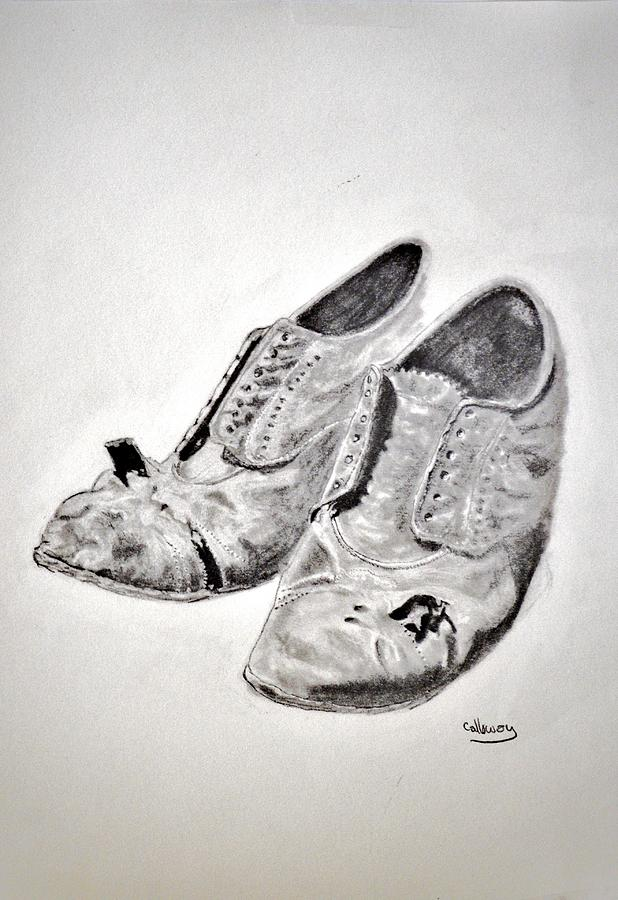 Old Shoes Drawing  - Old Shoes Fine Art Print