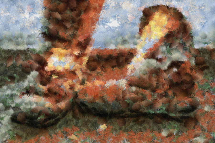 Old Snow Boots Painting
