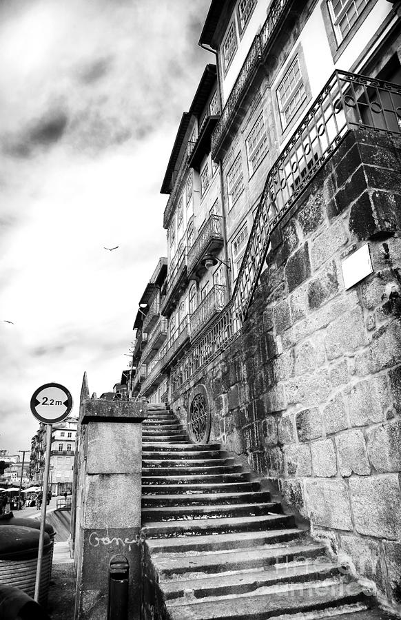 Old Stairs In Porto Photograph - Old Stairs In Porto by John Rizzuto