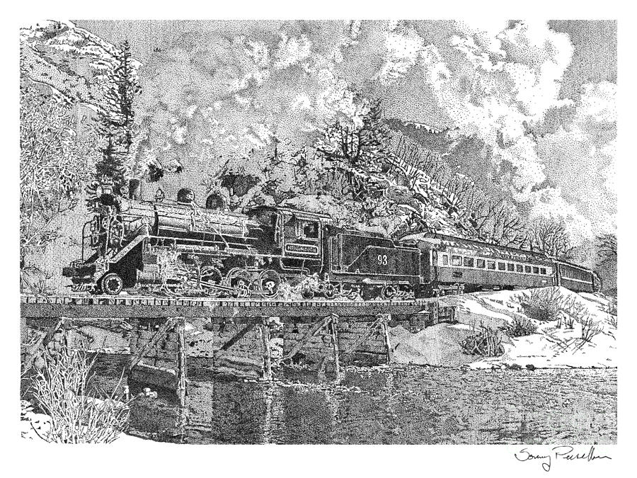 Old Train Drawing Steam Engine Train Drawings