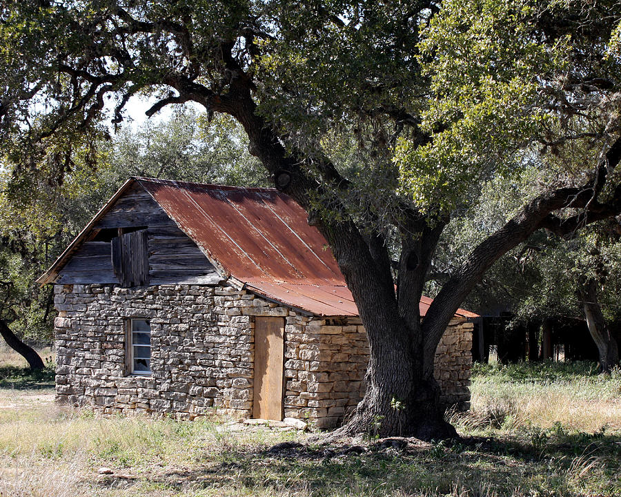 Cabin Photograph - Old Stone Cabin by Terry Fleckney