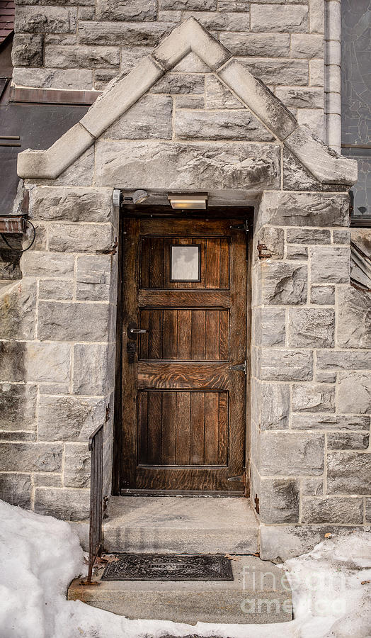 Old Stone Church Door Photograph